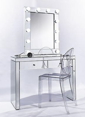 SET Luxury Hollywood Vanity Makeup Mirror + Dressing Console Table
