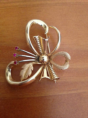 Broche ancienne clip or rose 18 carats, or 750 , 8,50 grammes, bijou ancien