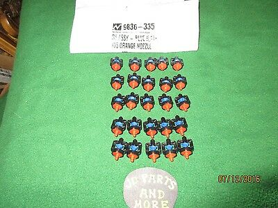 25 New Nelson Irrigation R5 Micro Nozzle 9836-335 Blue Plate #35 Orange