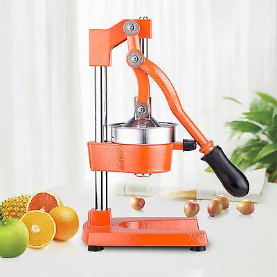 Original Manual Commercial Grade Citrus Orange Fruit Juicer Machine in Orange