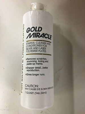 GOLD MIRACLE - Starter, Cleaner, Conditioner For Silver, Laser Polyester Plates
