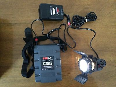PAG paglight c6 video light complete set with a battery and a charger