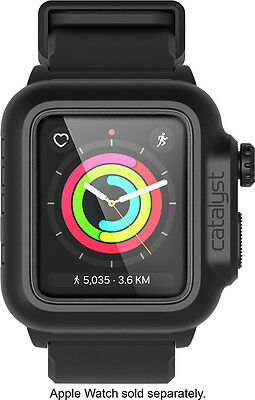 Open-Box: Catalyst® - Band and Case for Apple WatchSeries 2 42mm - Stealth ...