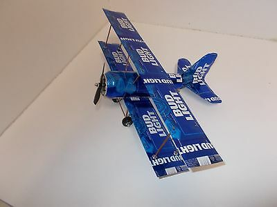 Beer can Aluminum handcrafted airplane/BUD LIGHT  2016 (BI-PLANE)