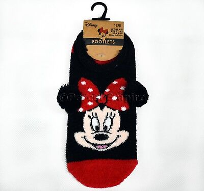 Official DISNEY Minnie Mouse Footlets SOCKS Foot Shoe Liners Ladies Girls Mickey