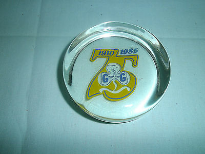 Vintage Glass Commemorative Paperweight- 75 Years Girl Guides-1910-1985