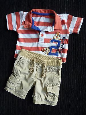 Baby clothes BOY 0-3m outfit shorts/t-shirt GAP/Disney Chipmunks polo shirt