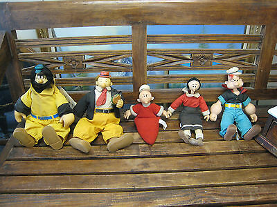 1985 Presents Hamilton Gifts Popeye Brutus Olive Oyl Swee Pea Wimpy Set Of 5