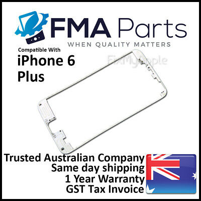 iPhone 6 Plus White Front Glass Touch Screen LCD Digitizer Bezel Frame Plastic