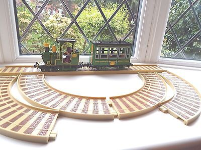 Postman Pat Sds Series Greendale Rocket With Carriage, Ajay & 6 Piece Track