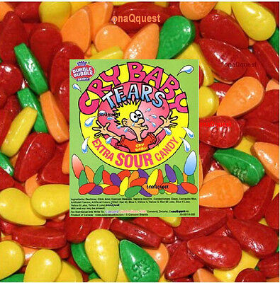 CRY BABY SOUR TEARS 3lb bulk candy Sweet Tart Tangy Fruit Dubble Bubble wonka