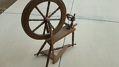 "Hand Made Spinning Wheel 39"" Tall 21"" Wheel"