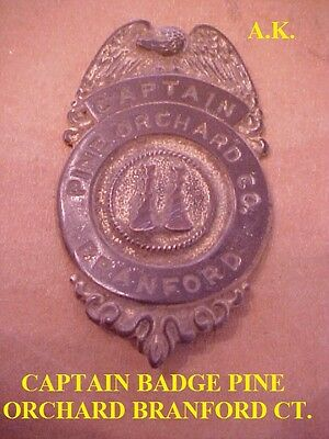 Fire Captain Badge Pine Orchard Branford Ct.