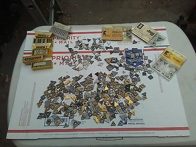 Lot Of Carbide And Steel Inserts Lathe Milling Cutting Drill Turning Cut Off
