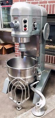 Hobart H-600T 60 Quart Industrial Bakery Restaurant Dough Food Mixer With Tools