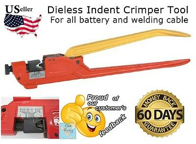 Dieless Indent Terminal Lug Crimper Tool Electrical Battery Cable Wire