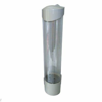 Wall mounted cup dispenser for plastic cups