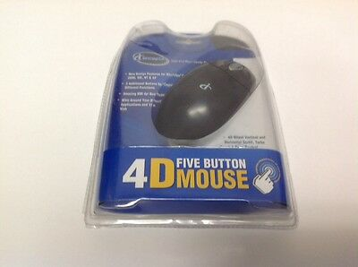 Iconcepts 4D Five Button Mouse Wheel Scroll New Black