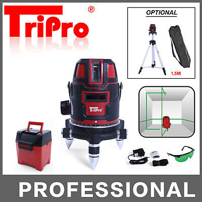 Self Levelling Cross Rotary Green Laser Level Multi Lines Plumb Dot Tripod