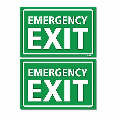 Fire Exit-Right Signs Self Adhisive Sticker All Direction Arrows T4J1 X2R6