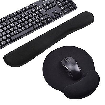 Keyboard and Mouse Wrist Rest Pads - Non-slip Rubber Base Soft Wrist Rest Pad -