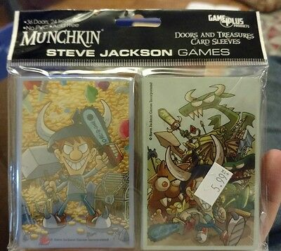 Munchkin: Doors and Treasures Card Sleeves (60) SJG 5601 new/factory sealed
