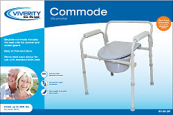 3-in-1 Folding Commode - Viverity 1 Count *BRAND NEW SHIPS FREE!*