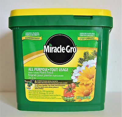 Miracle Gro All Purpose Water Soluble Plant Food Fertilizer 24-8-16 New 1.71kg