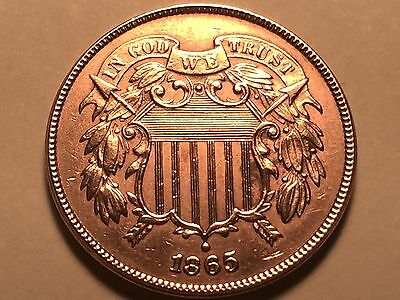 1865 Two Cent Piece  * Choice BU Red #3 *