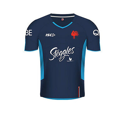 New Sydney Roosters Training T-Shirt 2017 Mens Supporter-Gear