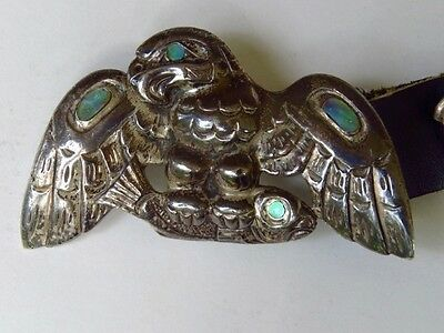 Patty Fawn Sterling Silver North West Coast Eagle Concho Belt:One of a kind