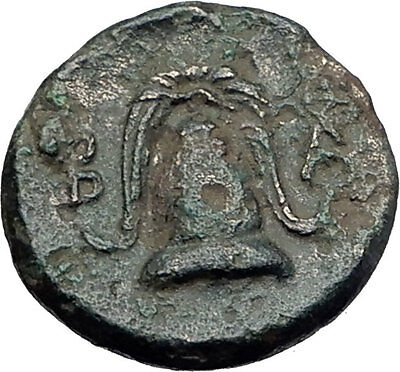 ALEXANDER III the GREAT 325BC Macedonia Shield Helmet Ancient Greek Coin i61330
