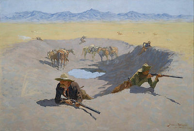 Remington Frederic Fight for the Waterhole Giclee Canvas Print