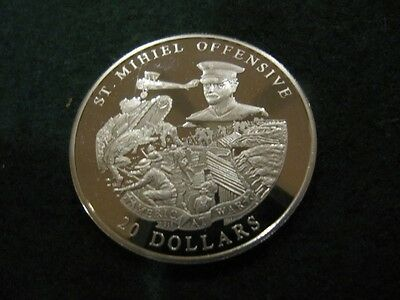Liberia  2003 $20  Silver Proof Coin St. Mihiel Offensive