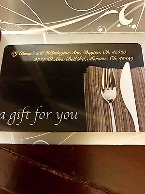 CJ CHAN $20 gift card For $18
