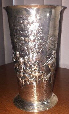 Vintage Silver Plated Vase From Denmark- Suberp
