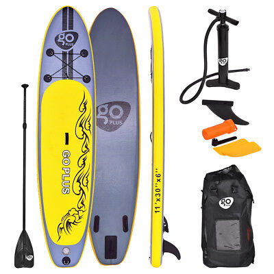 11FT ISUP  Inflatable Surfing Board Soft Surf Stand Up Paddle Board 335X76X15 CM