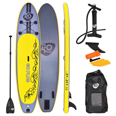 11FT SUP Inflatable Surfing Board Soft Surf Stand Up Paddle Board 335X76X15 CM