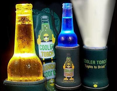 Amazing fun drink cooler - 6 x Green Cooler Torch Multi LED lights Stubby Holder
