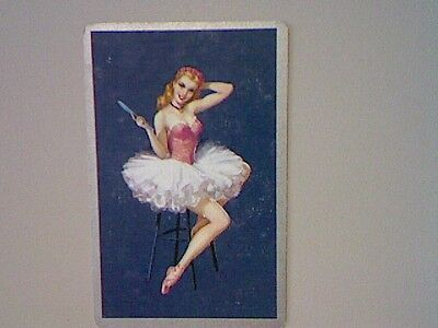 1 Single Swap/Playing Card -  Ballerina/Pin Up on Chair