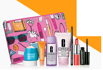 Clinique 8 Piece Make Up Bundle - Brand New - Including Cosmetic Bag