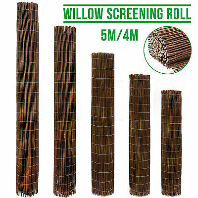4m 5m Long Willow Screening Roll Garden Fencing Panel Fence Wooden Outdoor