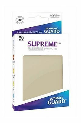 Ultimate Guard - Supreme UX Sleeves Standard Sand 80 Pieces Card Sleeves Cases