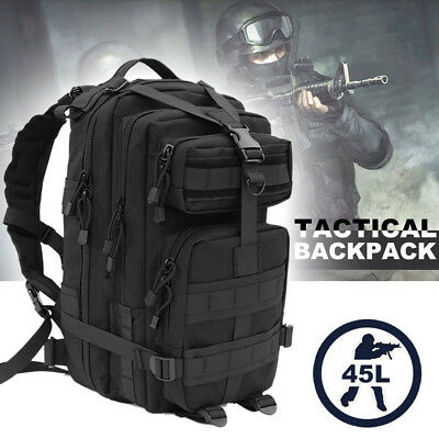 New 45L MOLLE Assault Pack Backpack/Rucksack Military Cadet Army Bag Nitehawk UK