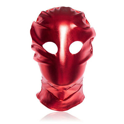 Spandex With Latex Full Head Hood Mask Open eyes Fold Mask  Halloween Party