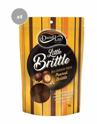 911064 4 x 200g PACKETS OF DARRELL LEA'S MILK CHOCOLATE COATED PEANUT BRITTLE!