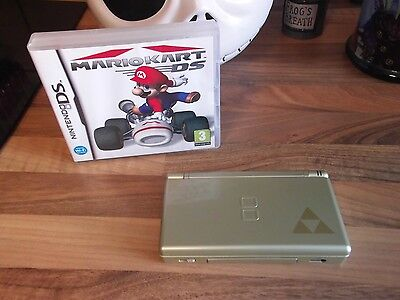 gold 39 zelda 39 nintendo ds lite console vgc mario kart picclick uk. Black Bedroom Furniture Sets. Home Design Ideas
