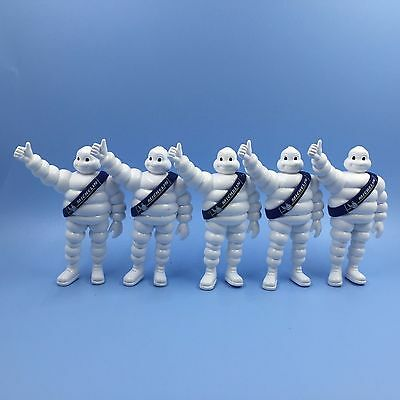 Lot Of 5 Blue Michelin Man Bibendum PVC MINI Figure 7CM HIGH