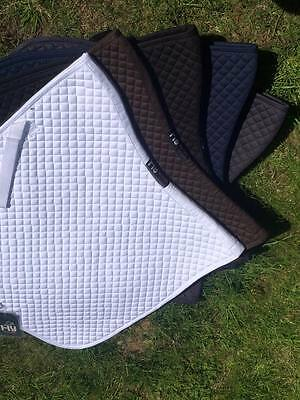 HyWITHER Competition DRESSAGE SADDLE PAD 100% Cotton Numnah ,Square - FREE P&P