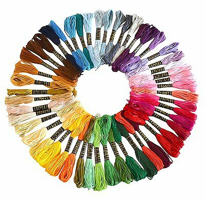 100 Color Egyptian Cross Stitch Cotton Sewing Skeins Embroidery Thread Floss AU